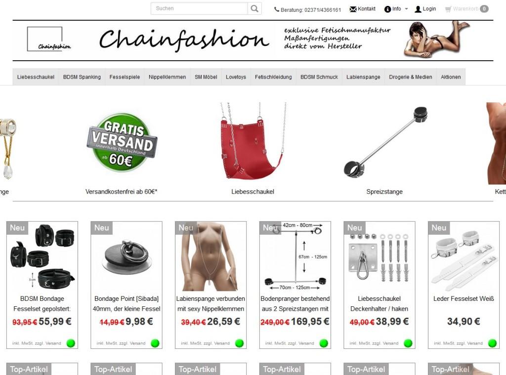Chainfashion.de Online Shop