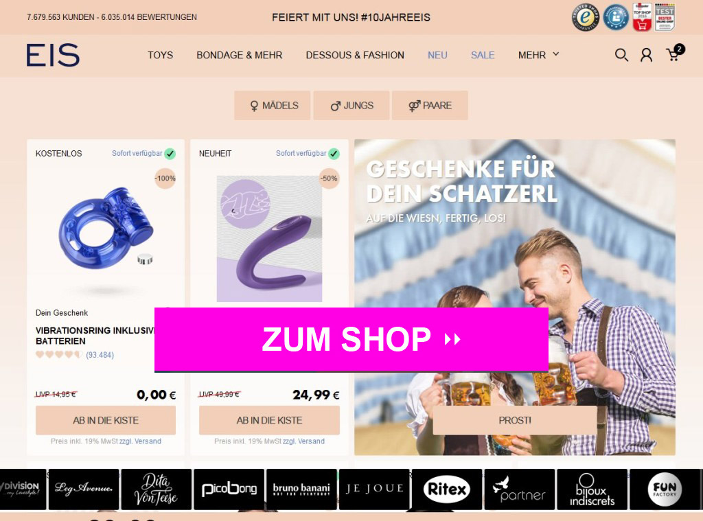 Eis.de Online Shop