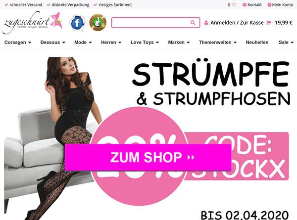 Zugeschnürt – Online Shop